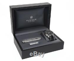 VICTORINOX SWISS ARMY Mens'Officers' Round 40mm Watch & Knife Set 133549