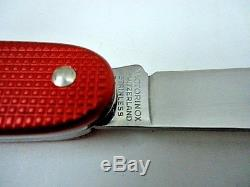 VINTAGE Victorinox Red Alox Soldier Swiss Army KNIFE VERY NICE