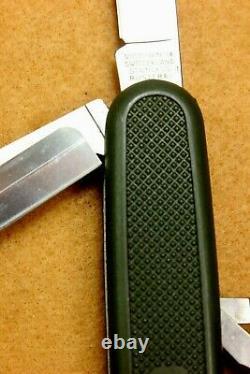 VTG 108mm Victorinox OLIVE GREEN SAFARI TROOPER Swiss Army Knife MINT