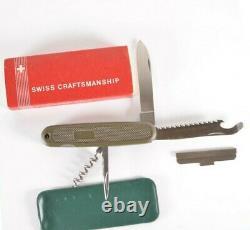 VTG 108mm Victorinox OLIVE GREEN SAFARI TROPPER Swiss Army Knife NEW NOS Box