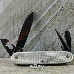 VTG Victorinox OLD CROSS SAP Pioneer Swiss Army Knife Silver Alox Very Good Cnd