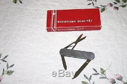 VTG Windsor Victorinox Stainless Steel Swiss Army Knife Discontinued With Orig Box