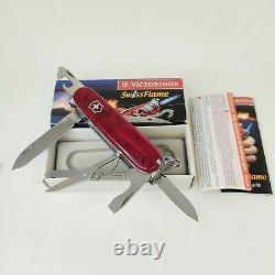 Very Rare Victorinox SwissFlame Ruby Swiss Army Knife Lighter NIB Box and Paper