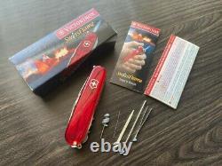 Very Rare Victorinox SwissFlame Swiss Army Knife Lighter NIB Box and Paper