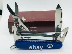 Very Rare WORKING! Victorinox SwissFlame Butane Lighter Swiss army knife BLUE