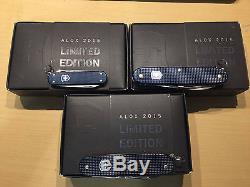 Victorinox 2015 Special Edition Alox Swiss Army Knife Dark Blue Set