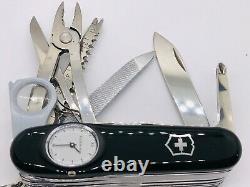 Victorinox BLACK SuperTimer Roman numerals OVP NEW Swiss Army Knife