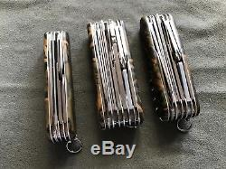 Victorinox Bamboo Camo Lot Rare Vintage Swiss Army Knife Swisschamp Champion +++