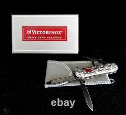 Victorinox Basketweave Swiss Army Knife Rarenibreed & Barton Sterling Silver