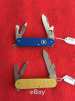 Victorinox Blue and Gold Alox Cadet Swiss Army Knife Onyva Limited Edition. New