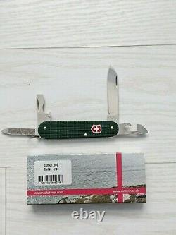 Victorinox Cadet 84mm Swiss Army Knife, Rare Green with Red Shield, New in box