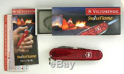 Victorinox CampFlame Swiss Army knife- retired, rare, new in box #6202