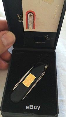 Victorinox Classic Gold Lingot W Hologram Swiss Army Knife. NOS