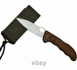 Victorinox Hunter Pro Walnut Wood Swiss Army Knife With Pouch Sheath New in Box