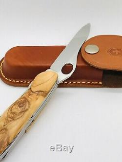 Victorinox OLIVE Dual Pro 111 MM 2010 serrated Swiss Army Knife One h+ Sheath