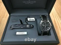 Victorinox Officer's Chronograph Quartz Watch and Swiss Army Knife Gift Set
