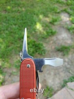 Victorinox Old Cross 93mm Red Alox Pioneer Swiss Army Knife With Box