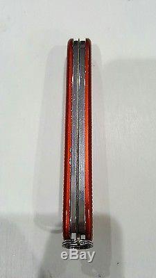 Victorinox Old Cross Pioneer Red Alox Swiss Army Knife SAK Multi-Tool