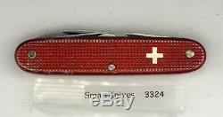 Victorinox Red Alox Soldier Swiss Army knife- used, vintage Elinox Pat VG #3324