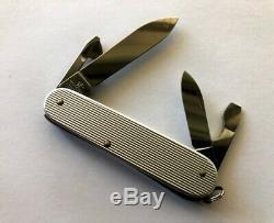 Victorinox Ribbed Alox Cadet II Swiss Army Knife Multi-tool Rare