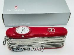 Victorinox SUPERTIMER Clock Swiss army knife Roman numerals Discontinued Rare
