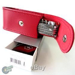 Victorinox Sheath Case RED Belt Pouch Push Button Swiss Army Knife 1.6795 35763