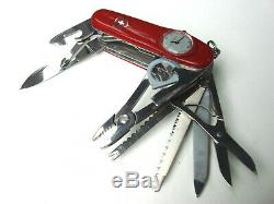 Victorinox SuperTimer Swiss Army Knife with Roman Numerals Nice in Box
