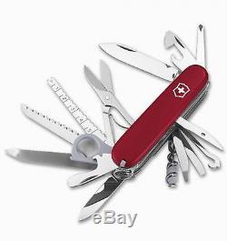 Victorinox Swiss Army Champion Plus Pocket Knife Model # 54525 (1.6795. R) Red