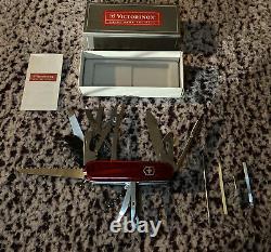 Victorinox Swiss Army CyberTool 41 Translucent Pocket Knife RED New 53938 NIB