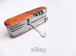 Victorinox Swiss Army Knife 91mm Swiss Champ Hardwood 31 functions 1.6794.69
