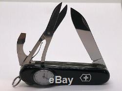 Victorinox Swiss Army Knife BLACK TIMEKEEPER Roman numerals vintage nice