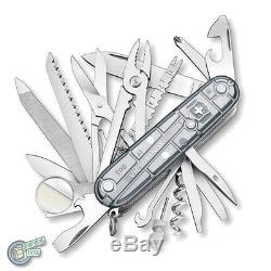Victorinox Swiss Army Knife Champ SwissChamp Silver Tech Clear + 4.0481.3 05712