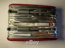 Victorinox Swiss Army Knife, Swisschamp XAVT, Ruby Red, 1.6795. XAVT, Used