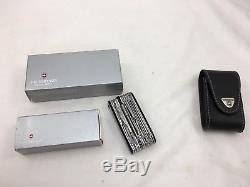 Victorinox Swiss Army Knife, Swisschamp XLT, Black Knife 53504 W Box And Sheath