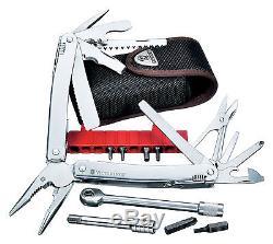 Victorinox Swiss Army Knife Swisstool Spirit Plus With Ratchet & Pouch 53807 NIB