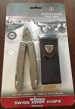 Victorinox Swiss Army Knife, Swisstool Spirit X Boy Scout, With Pouch 53224 New