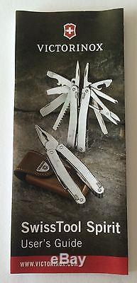 Victorinox Swiss Army Knife, Swisstool Spirit X, With Leather Pouch 53814, NIB