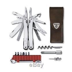 Victorinox Swiss Army Knife Swisstool Spirit XC Plus Ratchet Leather 3.0239. L