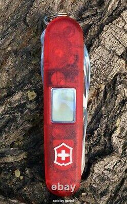 Victorinox Swiss Army Knife, Traveller Lite, Translucent Red, 53878 New In Box