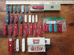 Victorinox Swiss Army Knives Lot of 34WengerGolfFoldingDeluxe Tinker IOB