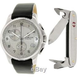 Victorinox Swiss Army Men Officer Chronograph Watch & Knife Gift Set 241553.2