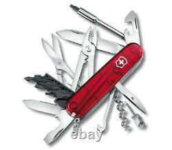 Victorinox Swiss Army Pocket Knife Cybertool 34 Transparent Red 91mm 1.7725. T