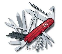 Victorinox Swiss Army Pocket Knife Cybertool 41 Transparent Red 91mm 1.7775. T