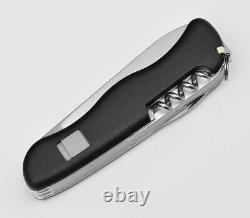 Victorinox Swiss Army Pocket Knife Hercules Black 111mm Slide Lock 0.9043.3