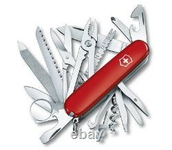 Victorinox Swiss Army Pocket Knife Swisschamp Red With Pouch 91mm 1.6795. Lb1