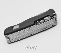 Victorinox Swiss Army Pocket Knife Workchamp Black 111mm Slide Lock 0.9064.3
