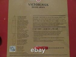 Victorinox Swiss Army Rosewood cutlery 7-Pc Knife Block Set Stainless Steel NIB