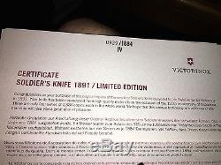 Victorinox Swiss Army Soldier's Knife Heritage 1890 Victorinox 125th Anniversary