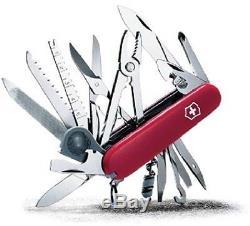 Victorinox Swiss Army Swiss Champ Pocket Knife (Red), No 53501, 3PK