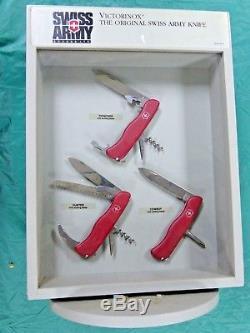 Victorinox Swiss Army Switzerland Factory Dealer Display 6 piece lock knife set